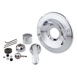Delta - Delta RP54870 Part Renovation Kit - 600 Series Chrome - Delta RP54870 is a Classic Renovation Kit. It is specifically for updating 600 Series Tub and Shower Trim. It includes the escutcheon and the screws, sleeve, lever handle, seats and springs, conversion ball plus cam and packing.