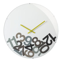 Dropped Numbers Clock - Holy, Helvetica! What time is it?