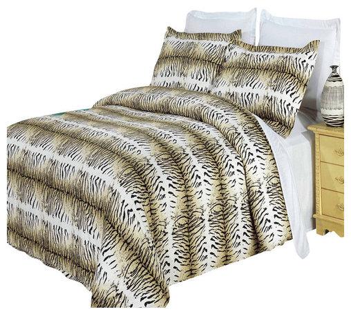 Bed Linens - Safari 100% Egyptian cotton Duvet cover set, Full-Queen - Colors include black, cream and mocha.