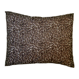 SheetWorld - SheetWorld Twin Pillow Case - Percale Pillow Case - Brown Petals - Made in USA - Pillow case is made of a durable all cotton percale material. Fits a standard twin size pillow. Features a Brown Petals print.
