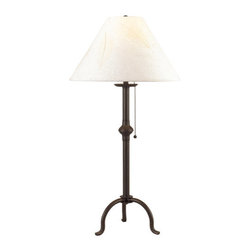 "Cal Lighting - Cal Lighting BO-903TB 75 Watt 31.75"" Traditional / Classic Iron Table Lamp with - 75 Watt 31.75"" Traditional / Classic Iron Table Lamp with On/Off Pull-Chain Switch and Round Rice Paper Shade from the Pennyfoot CollectionSpecifications:"