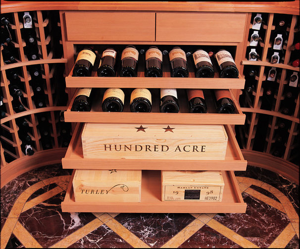 Traditional Wine Cellar by Vintage Cellars