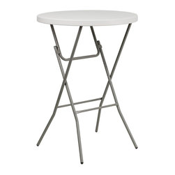 Flash Furniture - Flash Furniture Round Bar Height Folding Table in White - Flash Furniture - Folding Tables - RB32RBBARGWGG - This Bar Height Folding Table can be used in banquet halls hotels or in the home. This table is a great solution for temporary seating for gatherings.