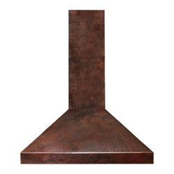 World CopperSmith™ - World CopperSmith Santa Clara Copper Range Hood - The Santa Clara™ is crafted from recycled copper, hammered and heated over an open fire to bring out vibrant colors and authentic texture. Positively unique and rich with culture, this hood will add a finishing touch to any kitchen. No-risk, money-back guarantee, free shipping.