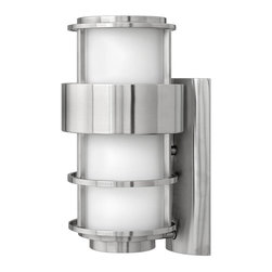 Hinkley - Hinkley Saturn One Light Stainless Steel Wall Light - 1904SS-GU24 - This One Light Wall Light is part of the Saturn Collection and has a Stainless Steel Finish. It is Outdoor Capable, and Wet Rated.