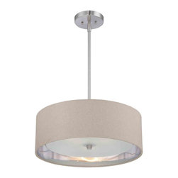 Quoizel Lighting - Quoizel CKMO2820BN Metro Brushed Nickel Pendant - 3, 100W A19 Medium
