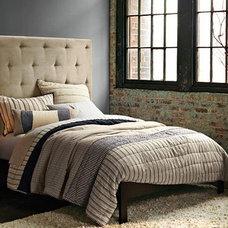 Tufted Headboard Design & Mid Century Bedroom Design | west elm
