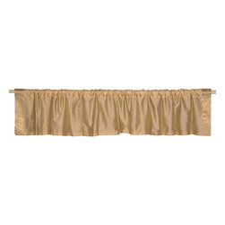Indian Selections - Pair of Golden Rod Pocket Top It Off Handmade Sari Valance, 43 X 15 In. - Size of each Valance: 43 Inches wide X 15 Inches drop