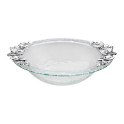Arthur Court - Butterfly Glass Salad Bowl - It's clear that you can use this bowl for salads, but you can also use it to show off chilled cut-up fruit at brunch, vegetables at lunch and, because it is freezer-safe, even your fancy ice cream dessert after dinner!