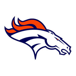 Brewster Home Fashions - NFL Denver Broncos Teammate Logo Wall Sticker Decal - FEATURES:
