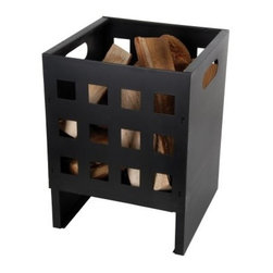 Esschert Design Square Basket Fire Pit - Give backyard fires a modern mood with the Esschert Design Square Basket Fire Pit. Crafted with heavy-duty black metal, this solid square fire basket boasts a spacious interior for wood logs and sturdy legs on either side that safely elevate fires to keep them away from trees, shrubs, and grass. Square side cutouts keep flames on display, and built-in handles make the basket easy to move and empty.About Esschert Design USAFrom the company's central warehouse in the Netherlands to the stateside warehouse in Thurman, Md., Esschert Design USA provides top-quality home and garden products. Esschert objectives require every item in every collection be nature-related, functional, and innovative. It's a mission successfully met - more than 4 million Esschert products are exported to more than 30 countries worldwide.