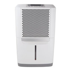 Frigidaire A/C - 50 Pint Dehumidifier - The Frigidaire FAD504DWD Energy Star 50-pint Dehumidifier protects your home from mold and mildew caused by excess moisture. It also helps eliminate bacteria in the air that can make breathing difficult. Frigidaire's 50 pints-per-day dehumidifier is capable of continuous operation when the unit is located near a suitable drain. It features full-function electronic controls, an easily accessible collection container with level indicator, and a washable filter that reduces bacteria, room odors and other airborne particles. Its effortless humidity control allows you to control the exact percentage of humidity in your room. The Space Wise portable design includes a top handle, integrated side handles and caster wheels making it easy to move your unit from room to room. Plus, you'll save money with its Energy Star efficiency.