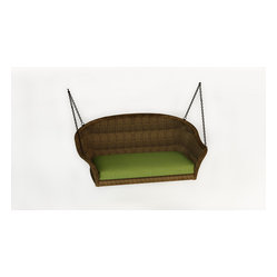 Rockport Wicker Patio Swing, Brown