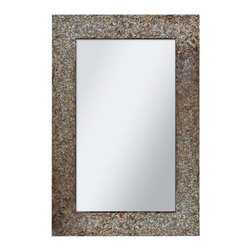 """Ren Wil - Ren Wil MT1345 Amber Mosaic 24"""" Rectangle Wall Mounted Mirror - Features:"""