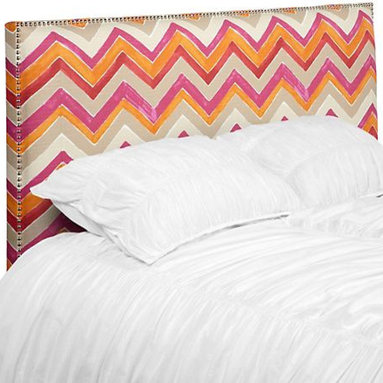 Max Headboard, Nomad Flame - Who wouldn't want to cuddle up next to this sweet headboard? The watercolor look makes it even more beautiful.