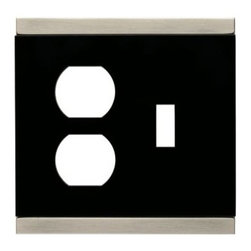 Liberty Hardware - Liberty Hardware 135760 Basic Stripe WP Collection 4.96 Inch Switch Plate - A simple change can make a huge impact on the look and feel of any room. Change out your old wall plates and give any room a brand new feel. Experience the look of a quality Liberty Hardware wall plate. Width - 4.96 Inch, Height - 4.9 Inch, Projection - 0.3 Inch, Finish - Satin Nickel & Black, Weight - 0.34 Lbs.