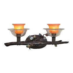 Kalco Lighting - KALCO Lighting 2512SB/ART Cottonwood Sienna Bronze 2 Light Vanity - KALCO Lighting 2512SB/ART Cottonwood Sienna Bronze 2 Light Vanity