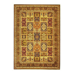 Safavieh - Persian Style Rug in Green with Multi-Color (3 ft. 3 in. x 5 ft. 3 in.) - Size: 3 ft. 3 in. x 5 ft. 3 in. Machine Made. Made of Polypropylene.