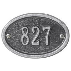 Traditional House Numbers Whitehall Ultra Petite Address Plaque, Oval