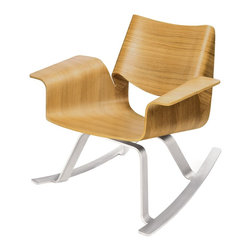 Buttercup Rocker - The same sleek look of an Eames rocker, but more comfort with a higher back and additional arm support. The chrome base has me hooked!