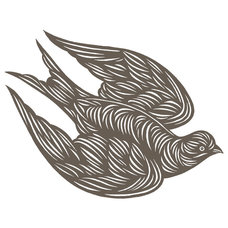 Contemporary Artwork Flying Swallow Print