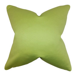 "The Pillow Collection - Eilam Solid Pillow Green 20"" x 20"" - Update any of your room with this plush statement piece. This throw pillow lends a fun vibe to your interiors with its bright green hue. Made with a blend of high-quality materials: 50% cotton and 50% silk. If you're looking for an affordable way to refresh your decor style, this toss pillow is the easiest solution. Hidden zipper closure for easy cover removal.  Knife edge finish on all four sides.  Reversible pillow with the same fabric on the back side.  Spot cleaning suggested."