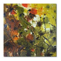 """Solomoon art studio - Roadside flowers - Size: 65x65 cm (25,6""""x25,6"""")"""