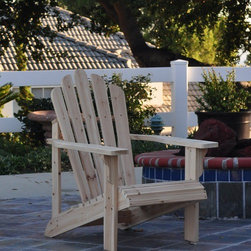 "Shine Company Inc. - Westport Adirondack Chair - This chair features the traditional, wide arm rests, curved seat, and high back support that makes the Adirondack chair a pleasure to sit in. Features: -Westport Adirondack chair.-Made of premium, high quality yellow Cedar wood known for its natural resistance to moisture, decay, and insect damage.-Rust resistant galvanized steel hardware.-Functional and practical to use it indoors and out on patios, decks and lawns.-Weather resistant oil based paint.-Weight capacity: 300 lbs.-Frame Construction Material: Premium yellow cedar wood.-Solid Wood Construction: Yes.-Distressed: No.-Powder Coated Finish: No.-Weather Resistant or Weatherproof: Weather resistant.-UV Resistant: No.-Mildew Resistant: No.-Cushions: No.-Fade Resistant: No.-Ottoman Included: No.-Water Resistant or Waterproof : Water resistant.-Armrest Cupholder: No.-Glider: No.-Rocker: No.-Swivel: No.-Stacking: No.-Folding: No.-Reclining: No.-Adjustable Headrest: No.-Seating Capacity: 1.-Swatch Available: No.-Commercial Use: Yes.-Recycled Content: No.-Remanufactured/Refurbished : No.-Eco-Friendly: No.Dimensions: -Seat: 13.25'' H x 20'' W x 22'' D.-Arm Height: 21.75"".-Arm Width: 4"".-Leg Width - Side to Side: 3.75"".-Leg Depth - Front to Back: 28.5"".-Overall Height - Top to Bottom: 36"".-Overall Width - Side to Side: 28.25"".-Overall Depth - Front to Back: 35"".-Overall Product Weight: 20 lbs.Assembly: -Partial assembly is required.-Tools Needed: Screwdriver, power drill optional.-Additional Parts Required: No.Warranty: -Product Warranty: 1 Year."