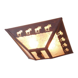 Steel Partners Inc - Drop Ceiling Mount - BAND OF MOOSE - Every piece we create is unique — handcrafted at our factory in Chehalis, Washington, USA. Due to this, lead times are 2 to 4 weeks.