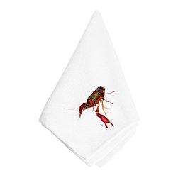 Caroline's Treasures - Crawfish Napkin 8621-2NAP - Crawfish Napkin 8621-2NAP Dinner Napkin - 100% polyester - wash, dry and lay flat.  No ironing needed.  20 inch by 20 inch
