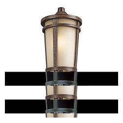 Kichler Lighting - Kichler Lighting 49074BSTFL Atwood Brown Stone Outdoor Post Light - Kichler Lighting 49074BSTFL Atwood Brown Stone Outdoor Post Light