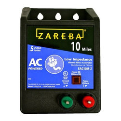 ZAREBA - 10 Mile AC Low Impedance Energizer - For control of all types of animals including horses, cows, pigs, goats, bulls and exotic animals. Use with all types of fences including high tensile, poly wire and poly tape.