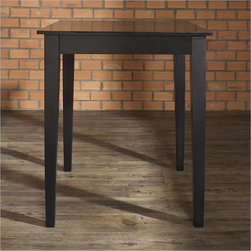 """Crosley Furniture Tapered Leg Pub/Dining Table in Black Finish - Constructed of solid hardwood and wood veneers, this Pub / High Dining table is designed for longevity. This durable, elegant and versatile table is perfect for the kitchen, basement, or your living room! The sturdy 32"""" top provides plentiful space for dining, a game of cards, or just a place for your favorite beverage while playing a game of pool."""
