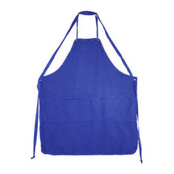 Apron, Indigo - For a selection of colorful canvas aprons, visit Utility. From chartreuse to fushia, they have every modern hue in this classic cut.