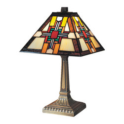 Dale Tiffany - Dale Tiffany 7342/533 Morning Star Table Lamp - Shade: Hand Rolled Art Glass
