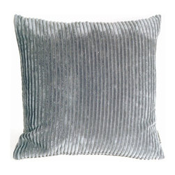 Pillow Decor Ltd. - Pillow Decor - Wide Wale Corduroy Dark Gray 22 x 22 Throw Pillow - The Wide Wale Corduroy 22 x 22 Throw Pillows are a beautiful velvety soft pillow in wide wale corduroy. Casual and contemporary, these pillows coordinate easily with others, adding rich color and plush comfort to your home. Mix and match it with its cousins in other sizes and colors for a sophisticated touch.