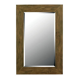 Kenroy - Kenroy 60202 Eureka Wall Mirror - Mitred Natural Wood styles this time tested framework with the coveted look of reclaimed wood.