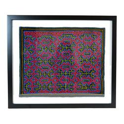 One of a Kind Antique Framed Textiles - Shipibo Textiles