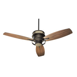 "Quorum Lighting - Quorum Lighting Bristol 54"" Contemporary Ceiling Fan X-68-34545 - From the Bristol Collection, this Quorum Lighting ceiling fan features three blades with a wider design that adds a subtle traditional feel. The motor of this contemporary ceiling fan gives it a more updated feel with its clean curvature and minimalist detailing. Your choice of finish combinations."