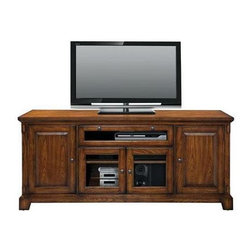 Winners Only - Zahara TV Cabinet - Four doors. Medium oak finish. 72 in. W x 19 in. D x 32 in. H