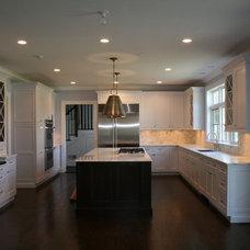 Transitional Kitchen by Moka Design, LLC