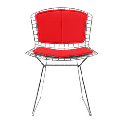 Knoll - Bertoia Side Chair, Back and Seat Cushion | Smart Furniture - Minimalist yet vibrant, this chair is a definite showstopper. Harry Bertoia's modern design perfection is at the forefront of this piece, making it one you'll cherish in your home as a precious work of functional art.
