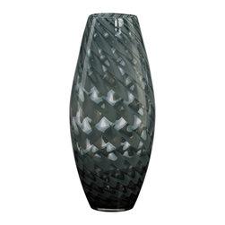 Cyan Design - Cyan Design Large Pistachio Vase in Smoked Light Green - Large Pistachio Vase in Smoked Light Green