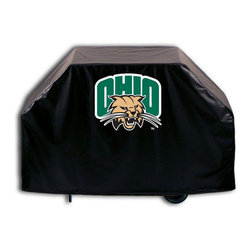 """Holland Bar Stool - Holland Bar Stool GC-UnivOH Ohio University Grill Cover - GC-UnivOH Ohio University Grill Cover belongs to College Collection by Holland Bar Stool This Ohio University grill cover by HBS is hand-made in the USA; using the finest commercial grade vinyl and utilizing a step-by-step screen print process to give you the most detailed logo possible. UV resistant inks are used to ensure exeptional durablilty to direct sun exposure. This product is Officially Licensed, so you can show your pride while protecting your grill from the elements of nature. Keep your grill protected and support your team with the help of Covers by HBS!"""" Grill Cover (1)"""