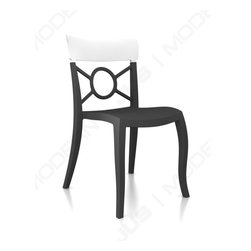 Papatya - O'PERA-S Chair - Set of 4, Anthracite Frame, Solid White Back - O'PERA-S Chair - Set of 4