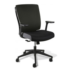 Jesper Office Furniture - Leona Adjustable Office Chair - Black - Features: