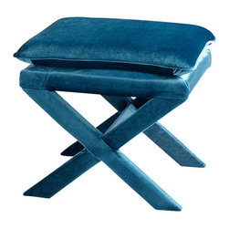 Cyan Design - Otto Stool - Blue - Otto stool.