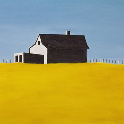 """""""Black And White Barn, Painting"""" - I tried to be as simple as I could be in rendering this subject."""