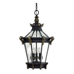 Minka-Lavery - Minka-Lavery Stratford Hall 5-Light Outdoor Chain Hung - 8934-95 - This 5-Light Hanging Lantern has a Gold Finish and is part of the Stratford Hall Collection.
