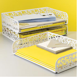 Vinea Stacking Letter Tray - Any cleanup is going to yield a huge amount of rogue paperwork from around the house. Once you've gone through and dealt with it all, create a central zone where you can stack it in the future.